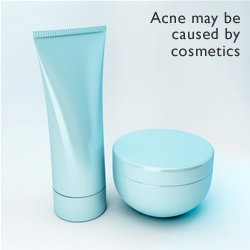 Acne may be caused cheap cosmetics or cosmetic overuse